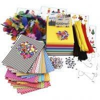 Großes Kreativ-Set mit Materialien und Schablonen, Sortierte Farben, 1 Set