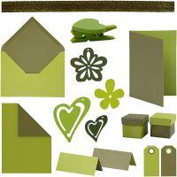Happy Moments - Set zur Anfertigung von Karten, Sortierte Farben, 160 Teile/ 1 Pck