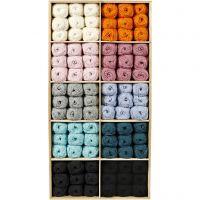 Babywolle, Sortierte Farben, 120 Knäuel/ 1 Pck