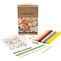 Lernset Krepppapier, 105 g, Sortierte Farben, 1 Set