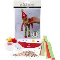 Mini-Kreativset, Clown aus einer Papprolle, 1 Set