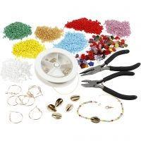Sets für die Anfertigung von Schmuck mit Rocaille Seed Beads, Vergoldet, 1 Set