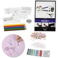 Set Schmuckanfertigung mit Beads und Schrumpffolie, 1 Set