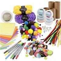 Kreativsets für Figuren aus Pappröhren, Fröhliche Farben, 1 Set
