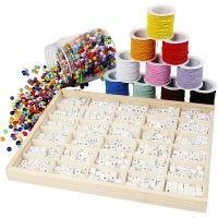 Set für Armbänder aus Buchstaben-Perlen, 1 Set