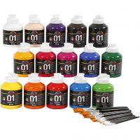 A-Color Acrylfarbe , Glänzend, Sortierte Farben, 1 Set