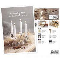 Produkt-Postkarte, Adventkranz, A5, 14,8x21 cm, 1 Stk