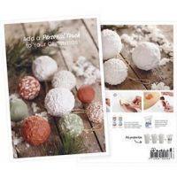 Produkt-Postkarte, Weihnachtskugel aus Papierpulpe, A5, 14,8x21 cm, 1 Stk