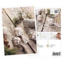 Produkt-Postkarte, Weihnachtskugeln im Macramé-Mantel, A5, 14,8x21 cm, 1 Stk