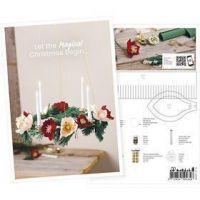 Produkt-Postkarte, Adventkranz aus Krepppapier, A5, 14,8x21 cm, 1 Stk