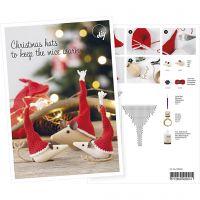 Produkt-Postkarte, Mäuschen mit Weihnachtsmützen, A5, 14,8x21 cm, 1 Stk