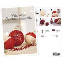 Produkt-Postkarte, Christbaumkugeln mit Mini-Glasperlen, A5, 14,8x21 cm, 1 Stk
