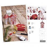 Produkt-Postkarte, Häuschen mit Glitter-Deko, A5, 14,8x21 cm, 1 Stk
