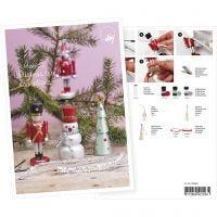 Produkt-Postkarte, Figuren, gestaltet mit Art Metal-Farbe und Dekofolie, A5, 14,8x21 cm, 1 Stk