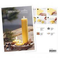 Produkt-Postkarte, Bienenwachskerzen, A5, 14,8x21 cm, 1 Stk