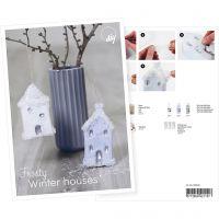 Produkt-Postkarte, Schneebedeckte Häuschen, A5, 14,8x21 cm, 1 Stk