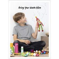 Inspirationsposter, Spaß und Spiel mit recycelten Objekten, 50x70, 29,7x42, 21x30 cm, 4 Stk/ 1 Pck
