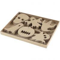 Halloween-Anhänger, Größe 7-10 cm, 6x10 Stk/ 1 Pck