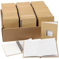 Notizbücher, A6, Größe 10,5x15 cm, 3x32 Stk/ 1 Pck