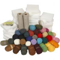 Nadelfilzen, Packung für Schulklassen, Sortierte Farben, 1 Set