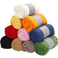 Fleece, L: 125 cm, B: 150 cm, Sortierte Farben, 10 Stk/ 1 Pck