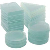 Glasplatten, Dicke 3 mm, 3x30 Stk/ 1 Box