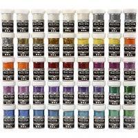 Glitter, Sortierte Farben, 46x20 g/ 1 Pck