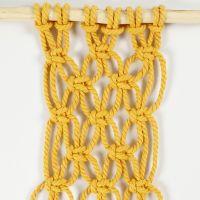 Macramé - Wie man mit versetzt wechselnden Quadratknoten arbeitet
