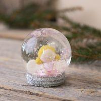 Schneekugel mit Engelchen aus Fimo-Knete