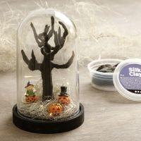 """Miniwelt """"Halloween"""" in einer Kuppelglocke"""