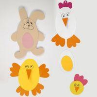 Osterfiguren aus farbigem Karton