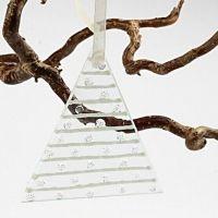 Dreieckige Glasplatte - Weihnachtsbaum