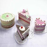Appetitlich aussehende Kuchenschachteln