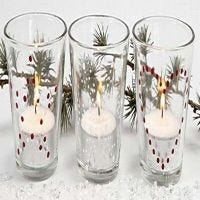 Kerzen für den Weihnachtstisch