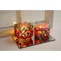 Kerzenhalter mit Papierstreifen