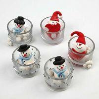 Figuren aus Silk Clay in Teelichthaltern