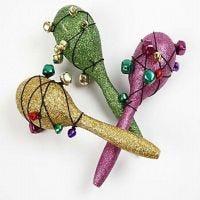 Maracas/Sambarasseln mit Glitter