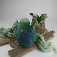 Töpfe aus Wolle