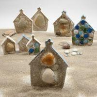 Skulpturen von Sandhäuschen