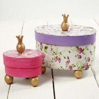 Prinzessinnen-Schachtel mit Decoupage