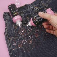 3D-Liner auf Jeans