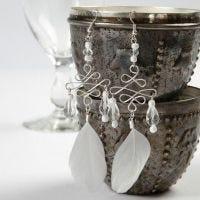 Ohrringe, angefertigt mit Drahtbiegewerkzeugen