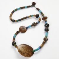 Halskette mit indianischen Perlen