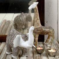 Pappmaché-Tiere mit Vivi Gade Design Decoupage-Papier