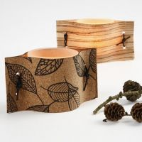 Kerzenhalter mit Naturmaterialien