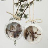 Flache Weihnachtskugeln