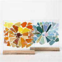 Glasmosaik auf Glasplatten