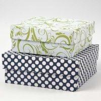 Schachteln beklebt mit Design-Papier