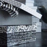 Schachtel verziert mit Design-Papier
