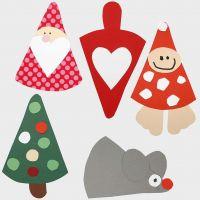 Weihnachtsschmuck - weihnachtliche Figuren aus Karton